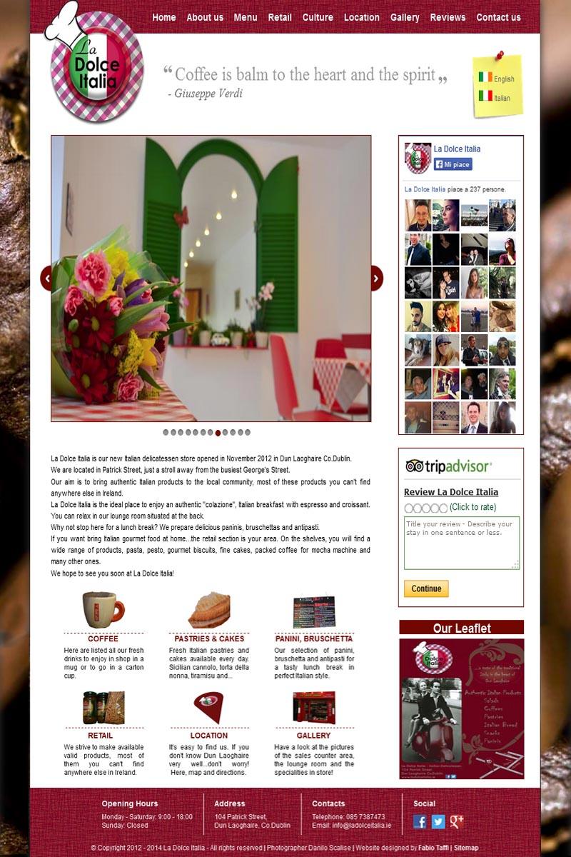 La Dolce Italia home page