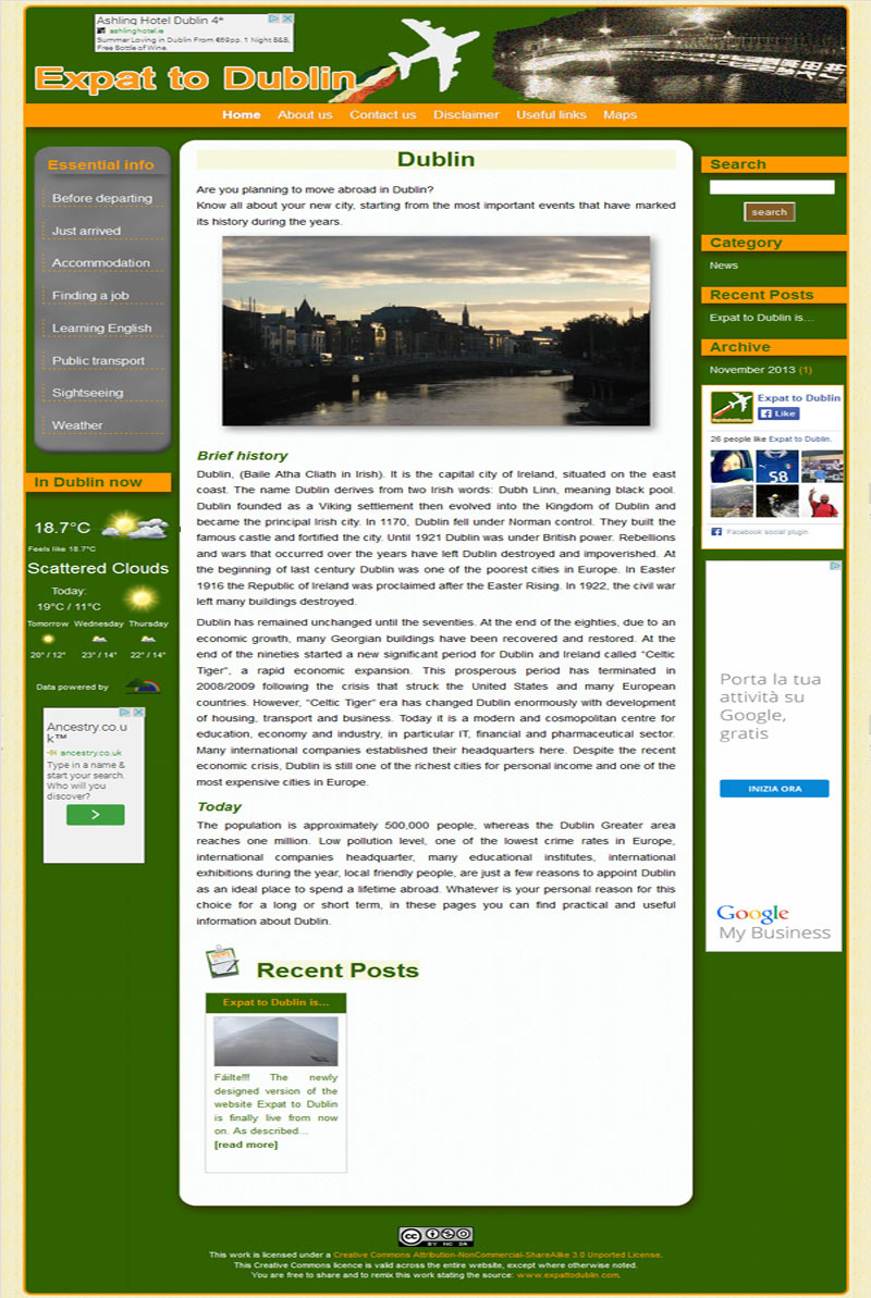 Home page of Expat to Dublin