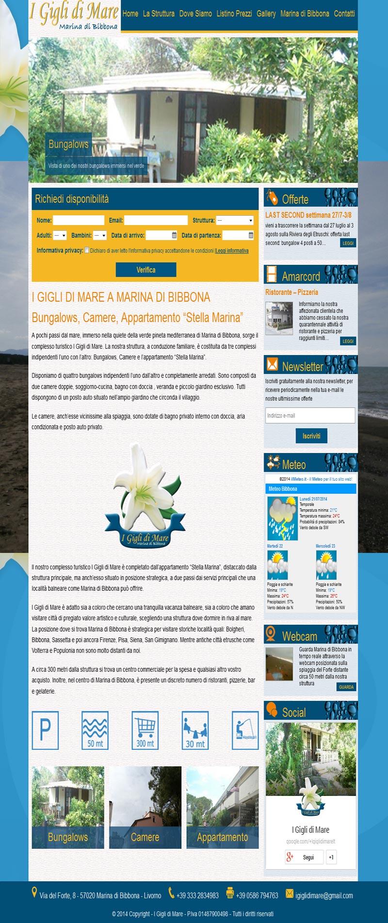 I Gigli di Mare home page