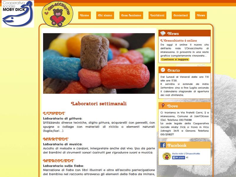 Laboratori settimanali page