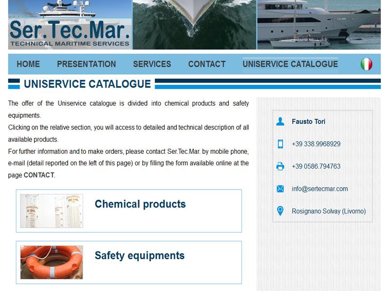 Uniservice catalogue