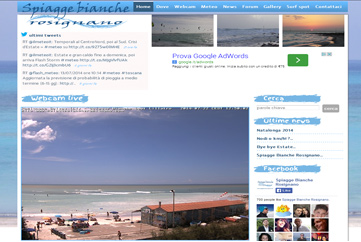 Spiagge Bianche Rosignano Home page
