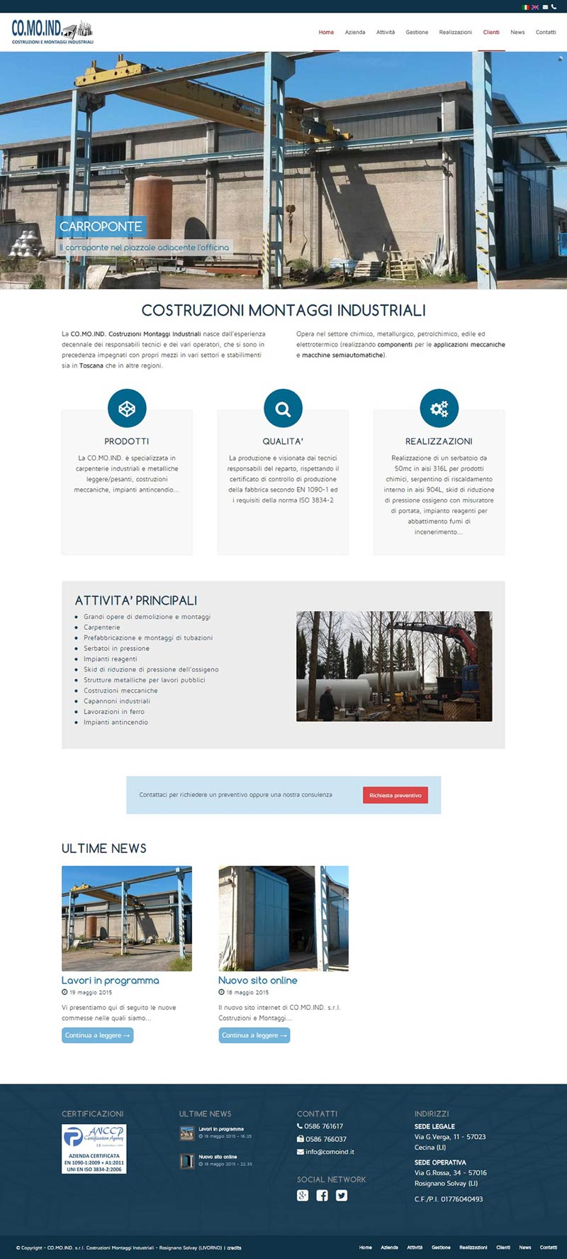 Website Comoind home page